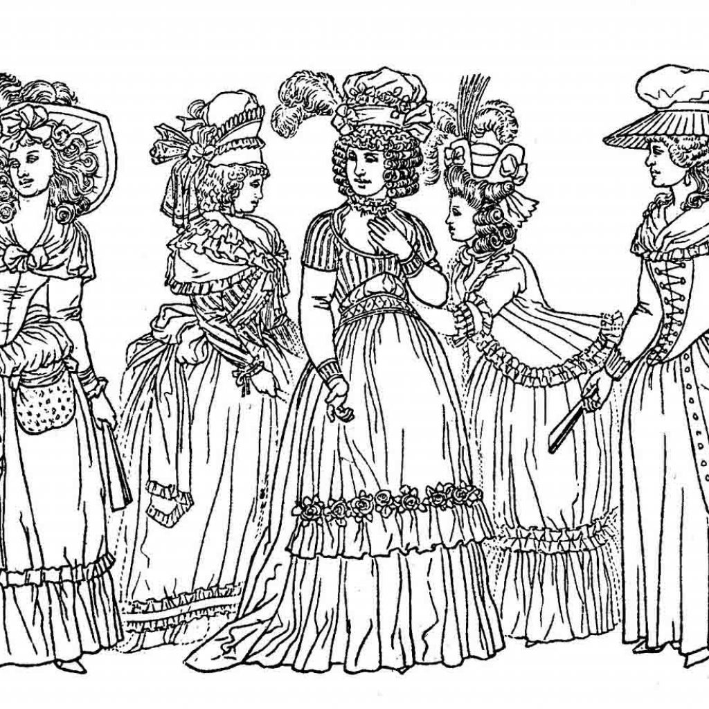 Victorian Christmas Coloring Pages Printable With Free
