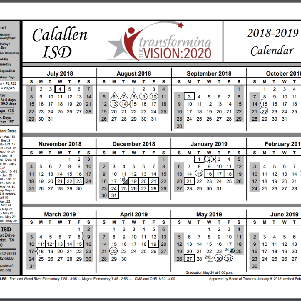Vietnam School Year Calendar 2019 With 2018