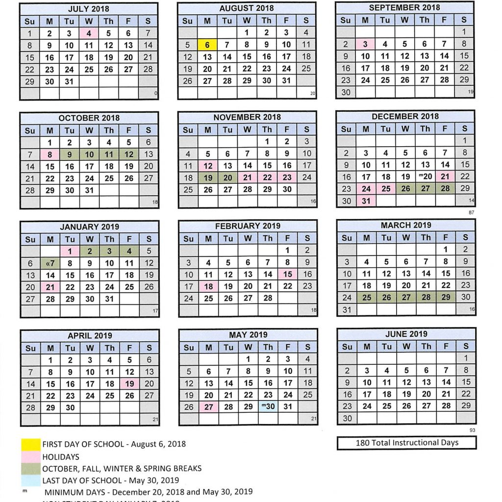 Vietnam School Year Calendar 2019 With 2018 19 Adelanto High