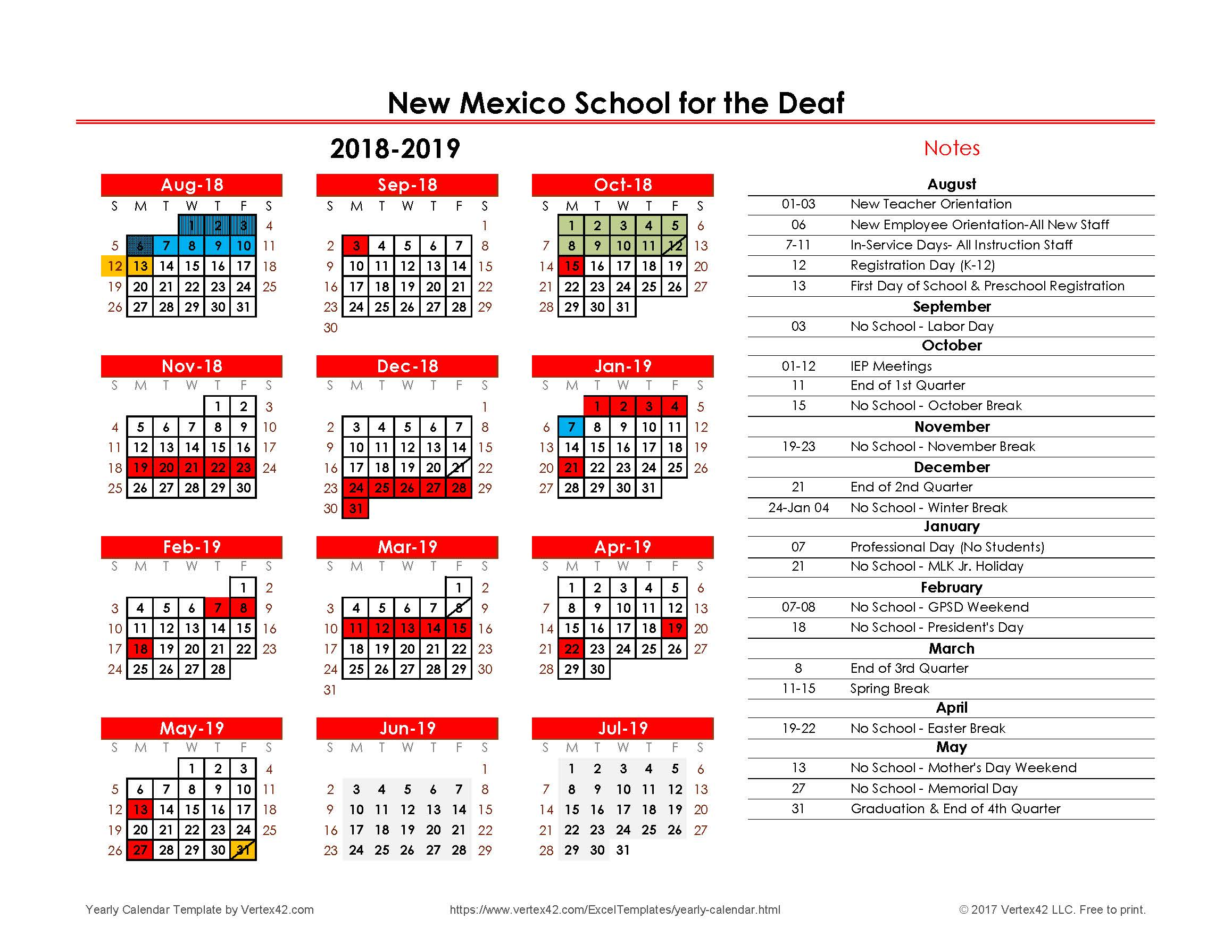 Vietnam School Year Calendar 2019 With Calendars New Mexico For The Deaf