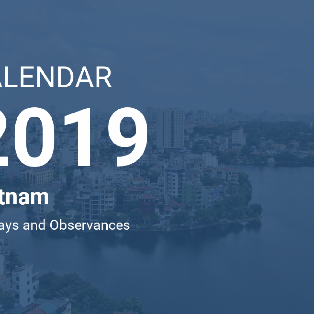 Vietnamese New Year 2019 Calendar With Vietnam