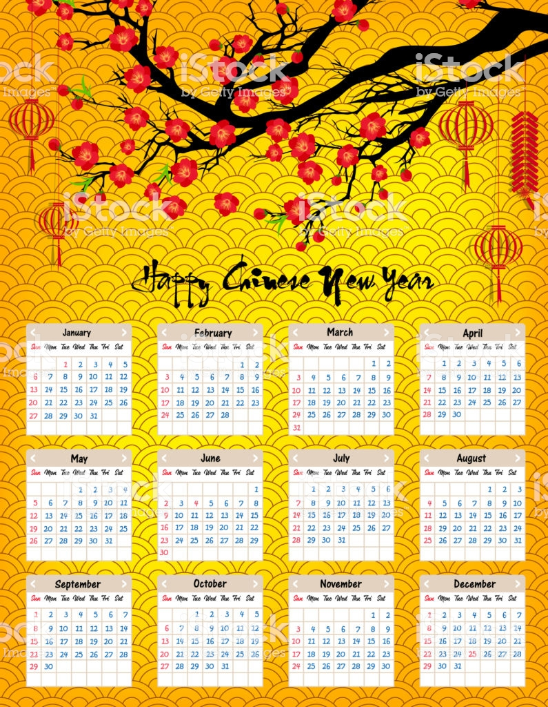 Vietnamese New Year 2019 Calendar With Vietnam Printable Coloring Page For Kids
