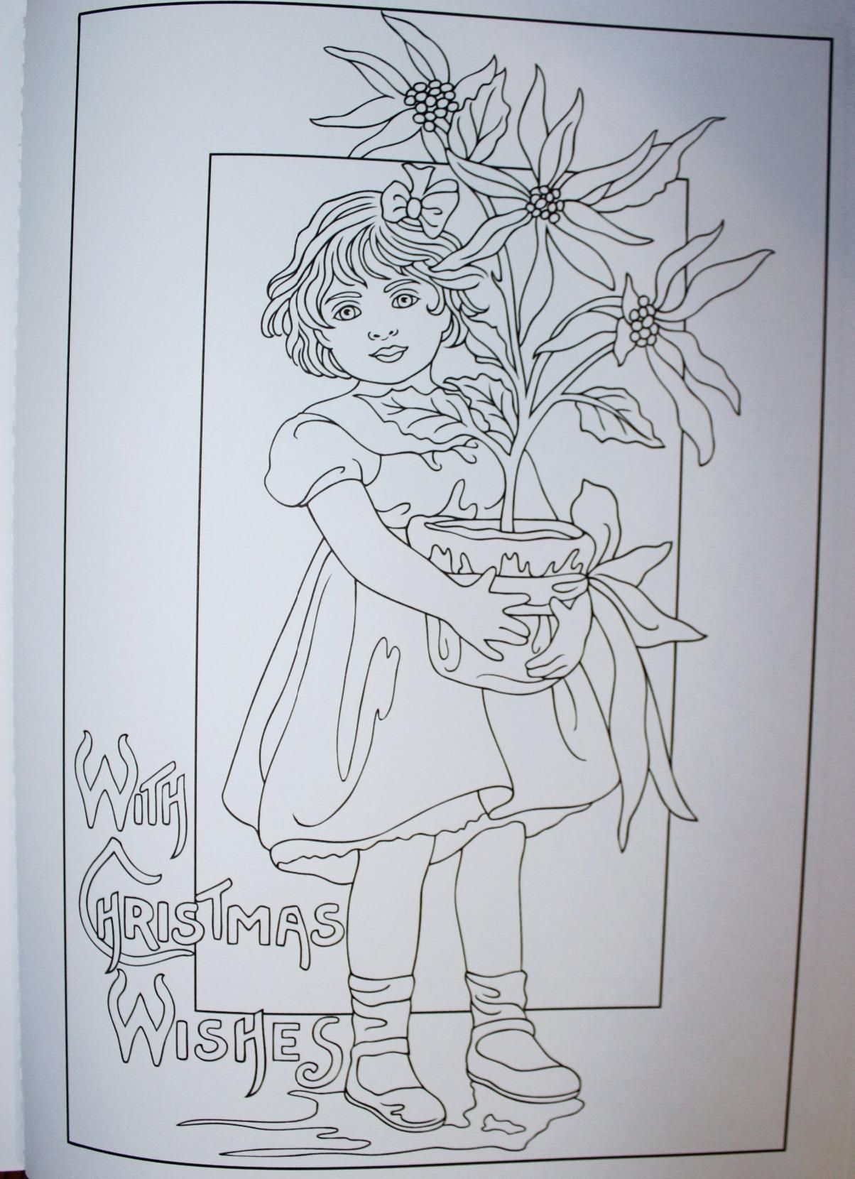 Vintage Christmas Coloring Book Pages With Creative Haven Greetings