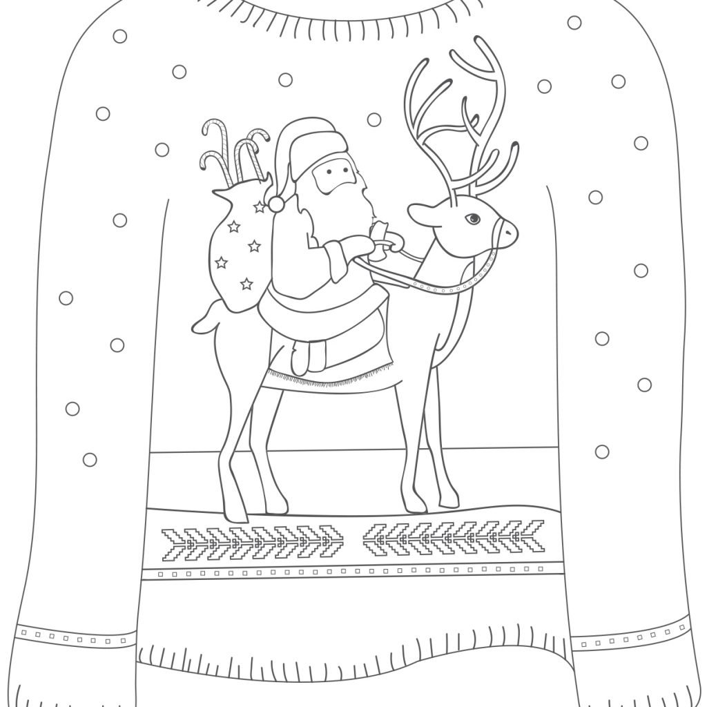 Vintage Santa Coloring Page With Sheets Ragstock