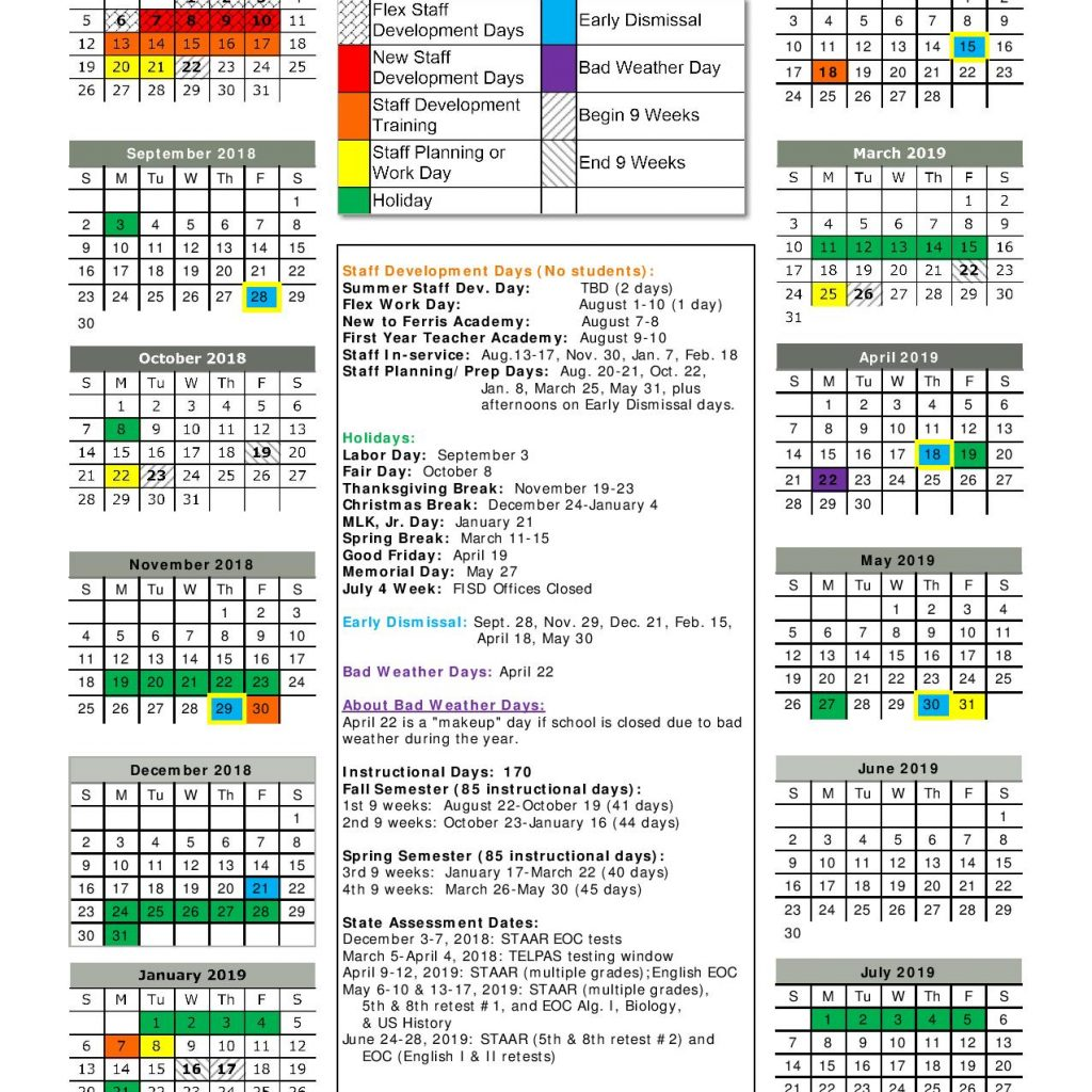 walmart-fiscal-year-2019-calendar-with-district-2018-student-handbook-and-code-of-conduct