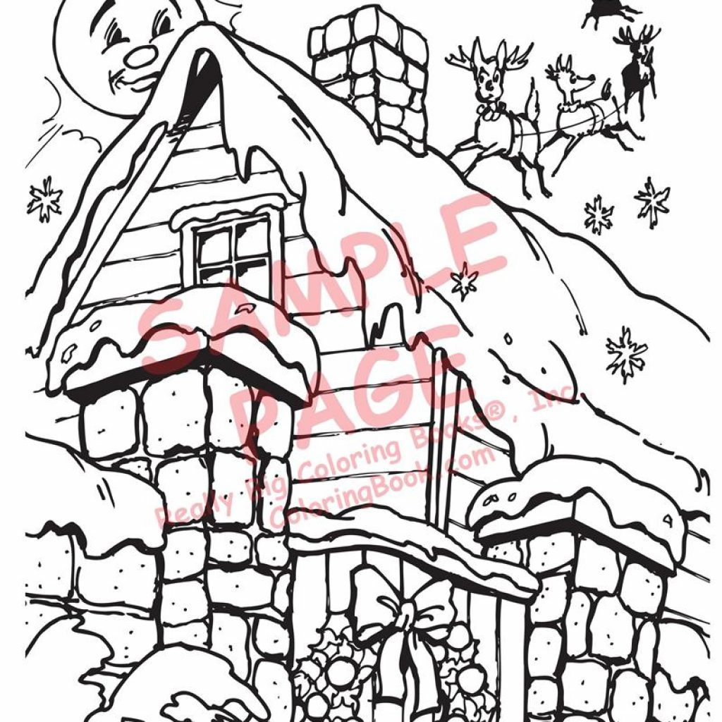 Xmas Coloring Book Pages With Books The Night Before Christmas By Clement C Moore