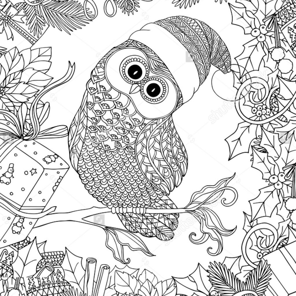 Xmas Coloring Book Pages With Christmas For Adults Adult