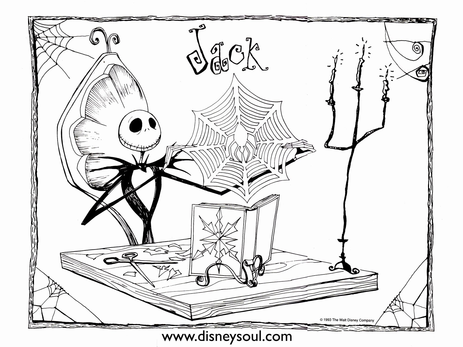 Xmas Coloring Book Pages With Nightmare Before Christmas