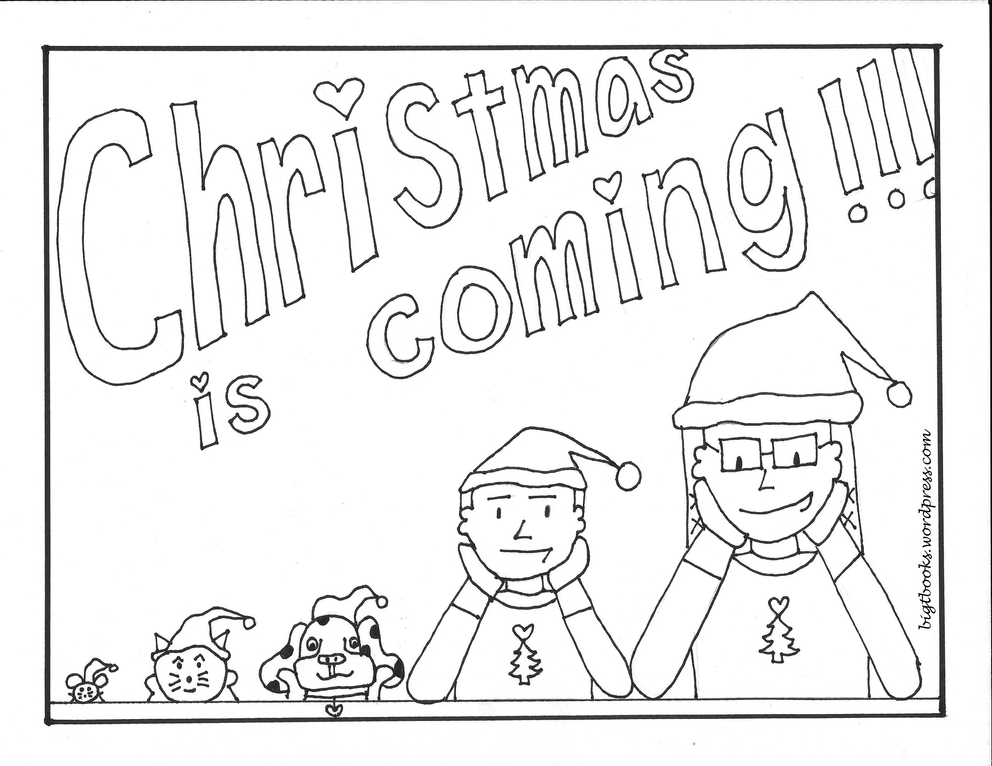 Xmas Coloring Book With Christmas Big T Books