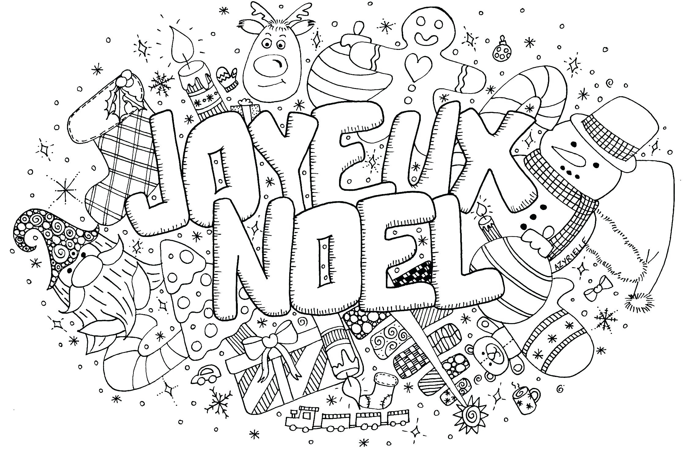 Xmas Coloring Pages Online With Christmas Download Free Books