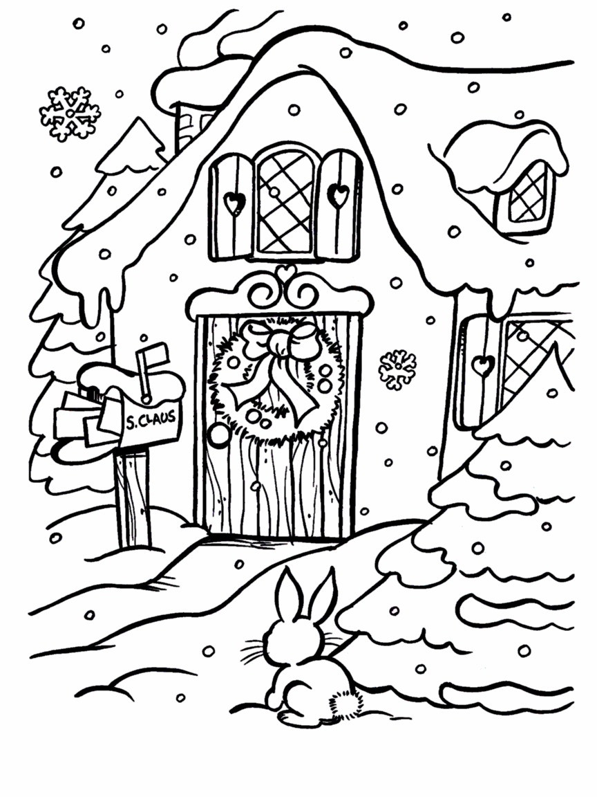 Xmas Coloring Pages To Print With Santa Pictures Color Luxury Claus