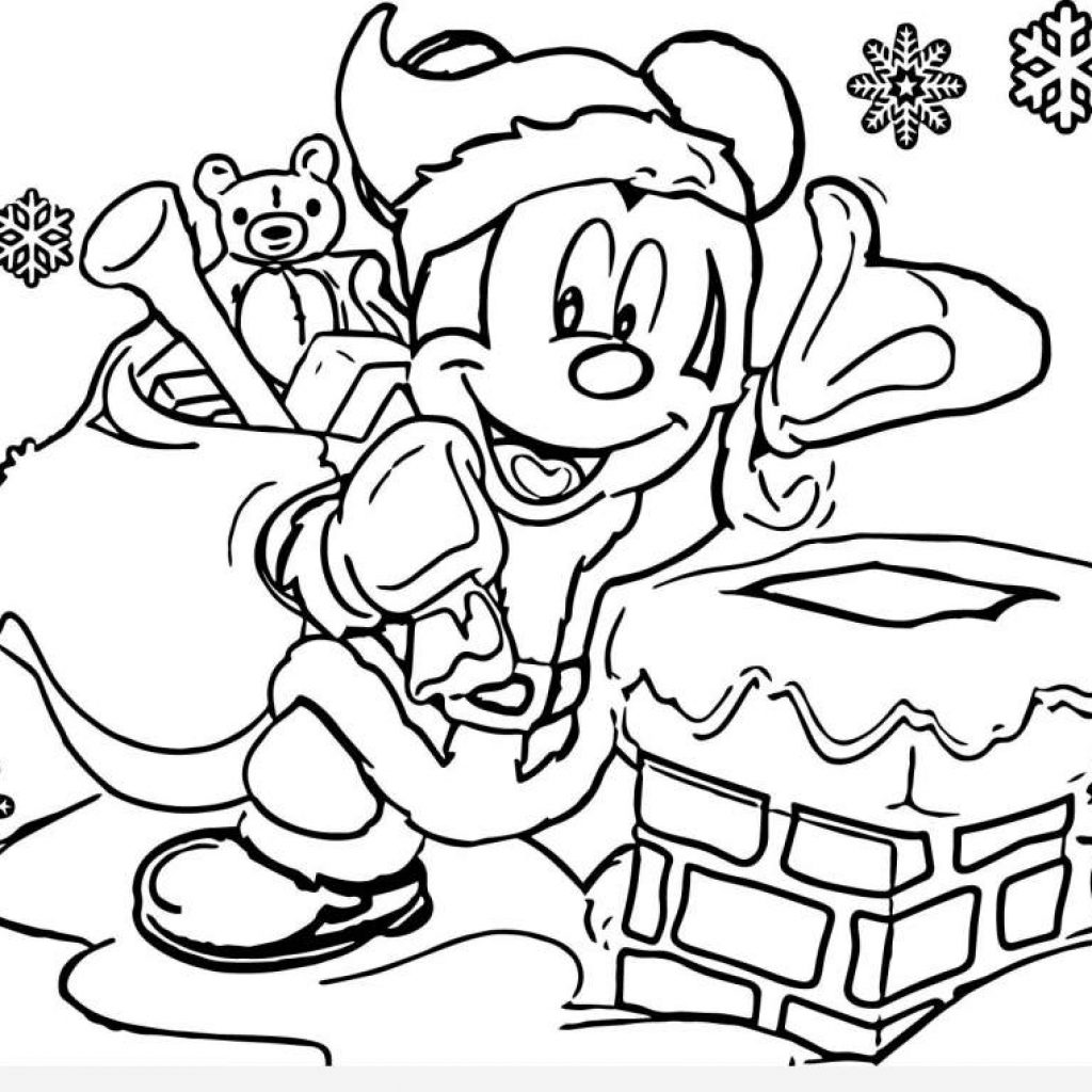 Xmas Coloring Pages With Santa Free Printable Page For Kids