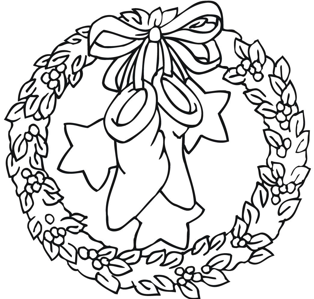 Xmas Coloring Pages With XMAS COLORING PAGES Pinterest Wreaths And