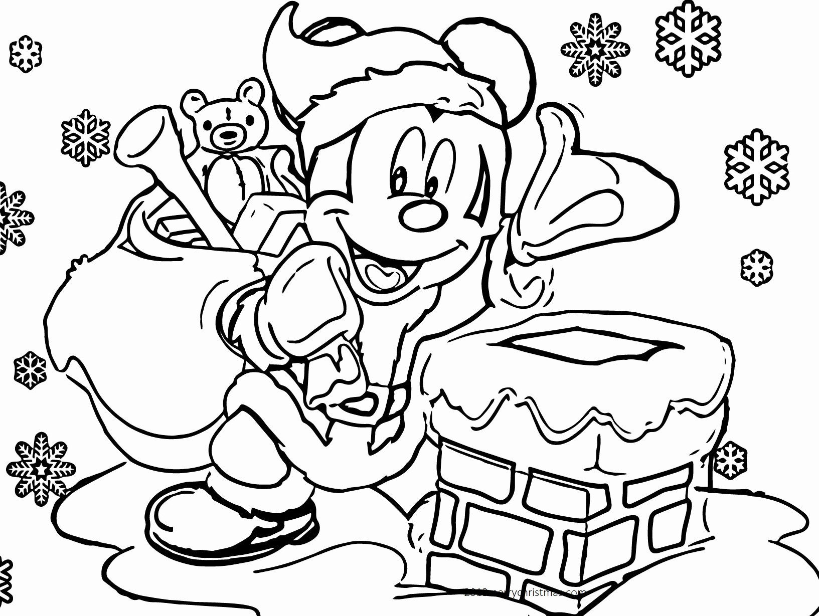 Xmas Coloring Pics With Pages For Children