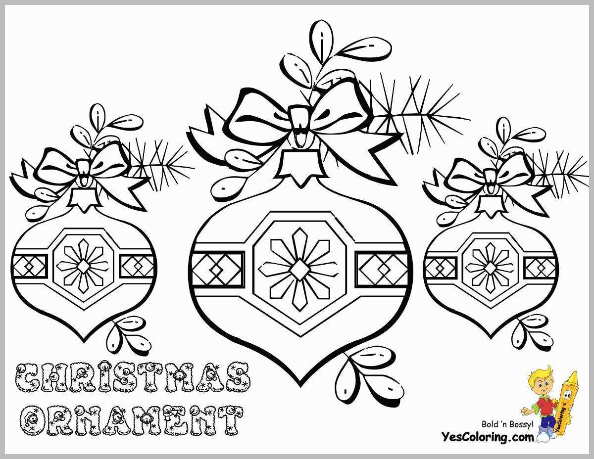 Xmas Ornaments Coloring Pages With Christmas For Adults Printable