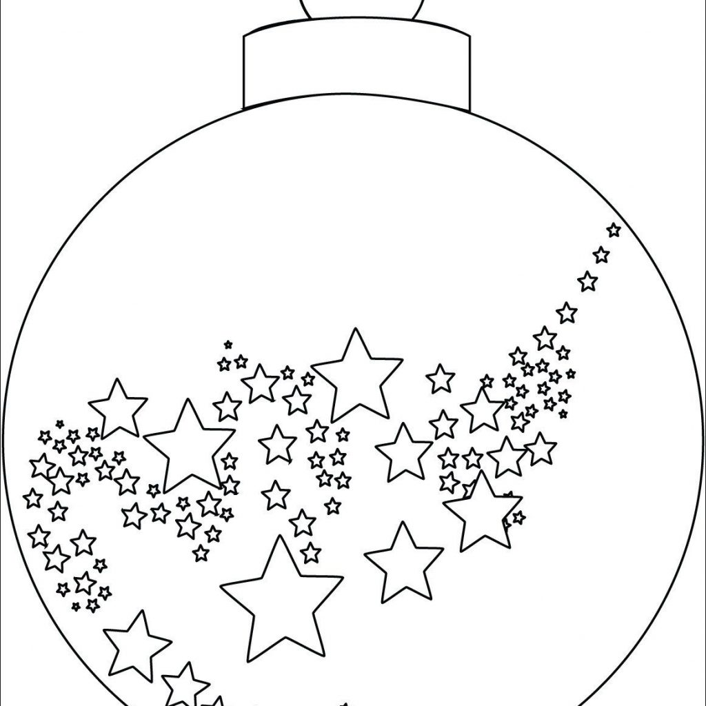 Xmas Ornaments Coloring Pages With Christmas Ornament Colouring