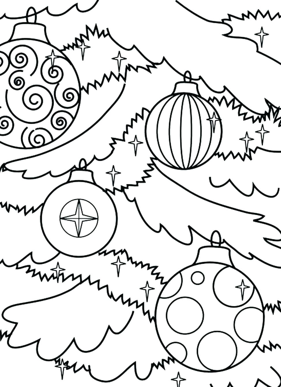 Xmas Ornaments Coloring Pages With Collection Of Christmas Tree Download