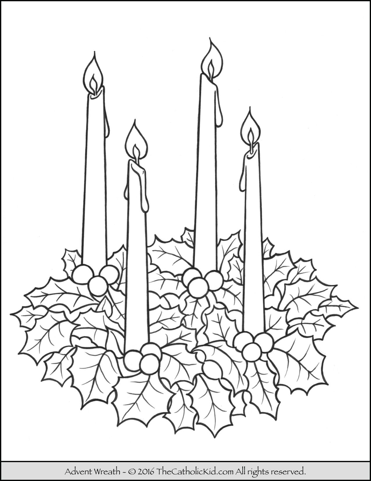 Xmas Wreaths Coloring Pages With Advent Wreath Page Christmas