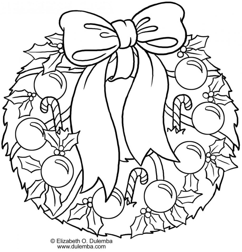 Xmas Wreaths Coloring Pages With Wreath Page Wallpaper Images Mayapurjacouture Com For