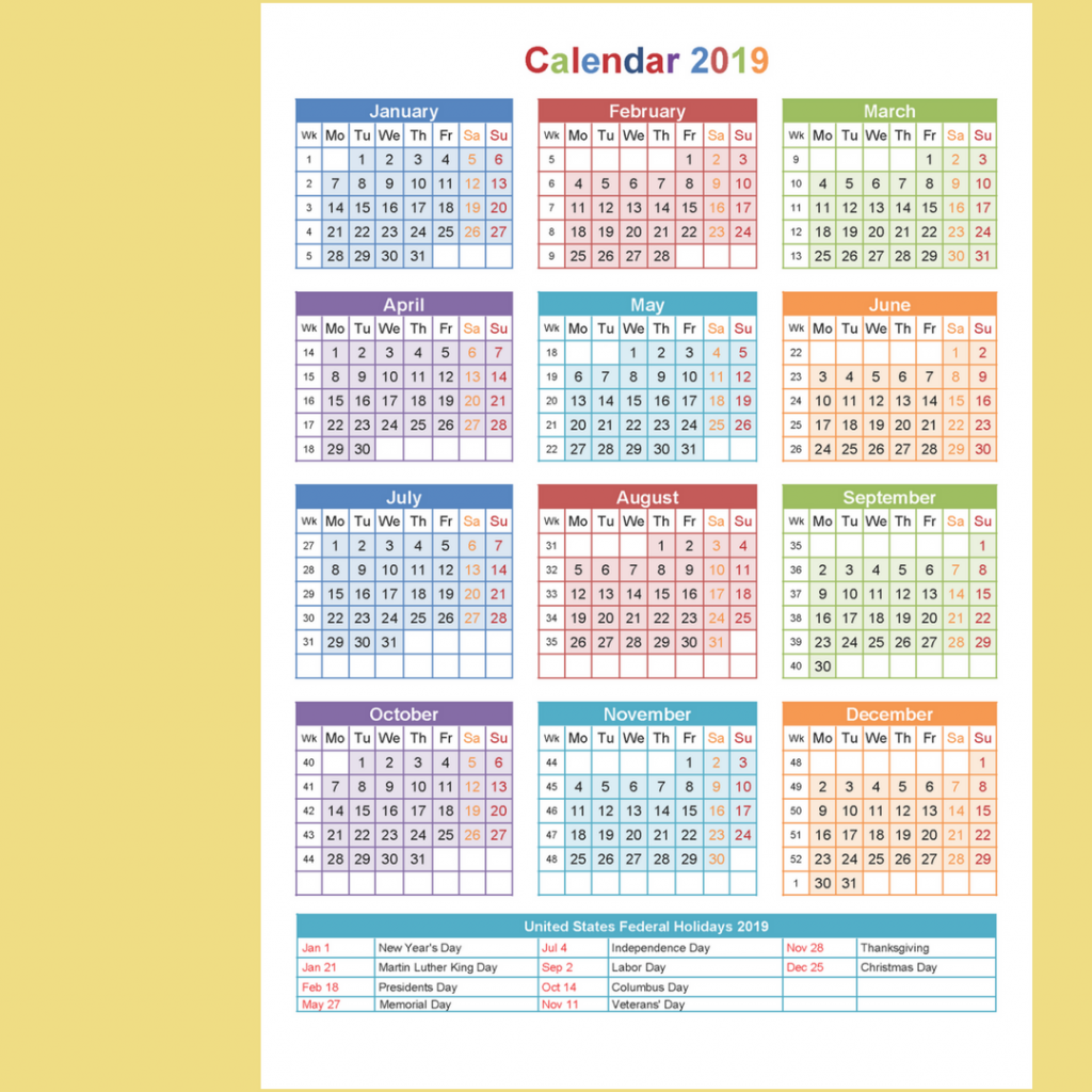 Year 2019 Calendar Australia With Yearly Printable Holidays Templates Download
