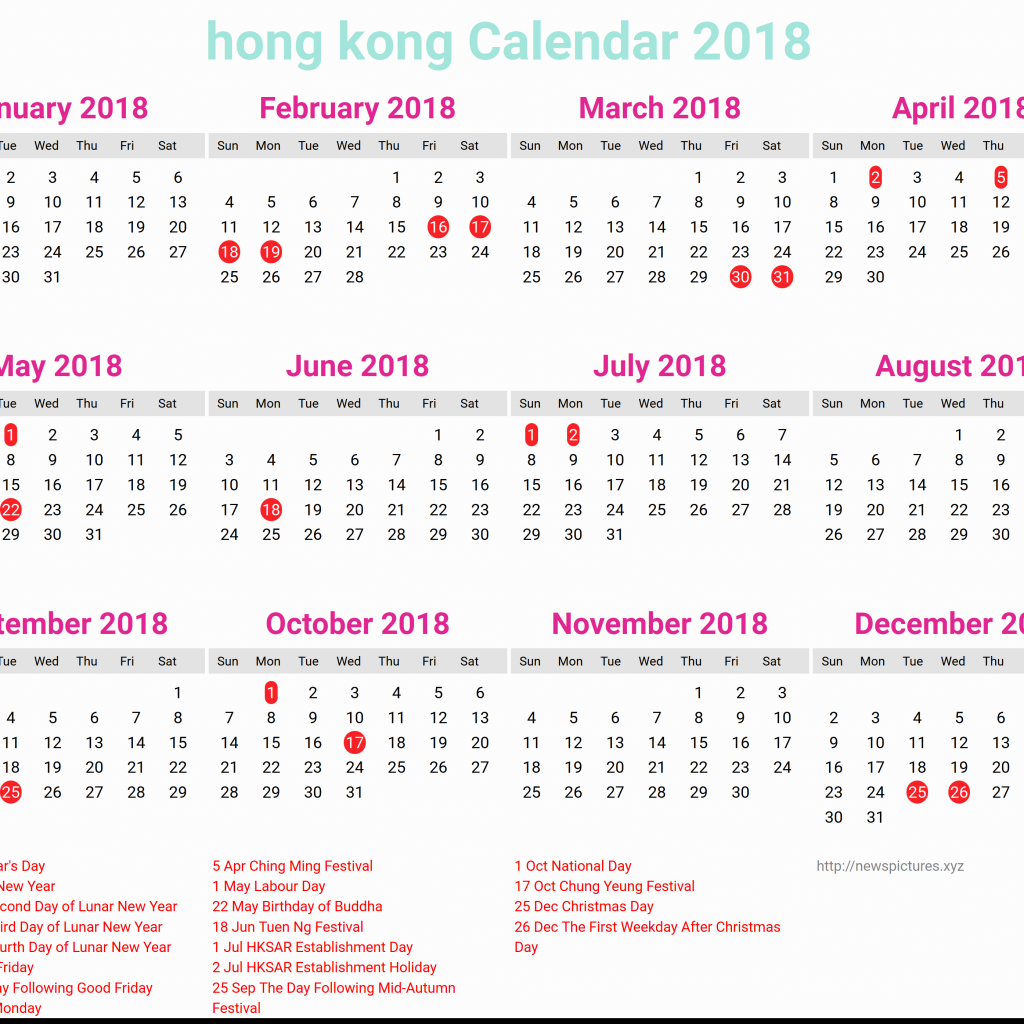 Year 2019 Calendar Hong Kong With 34 Regard To October 2018 Hk