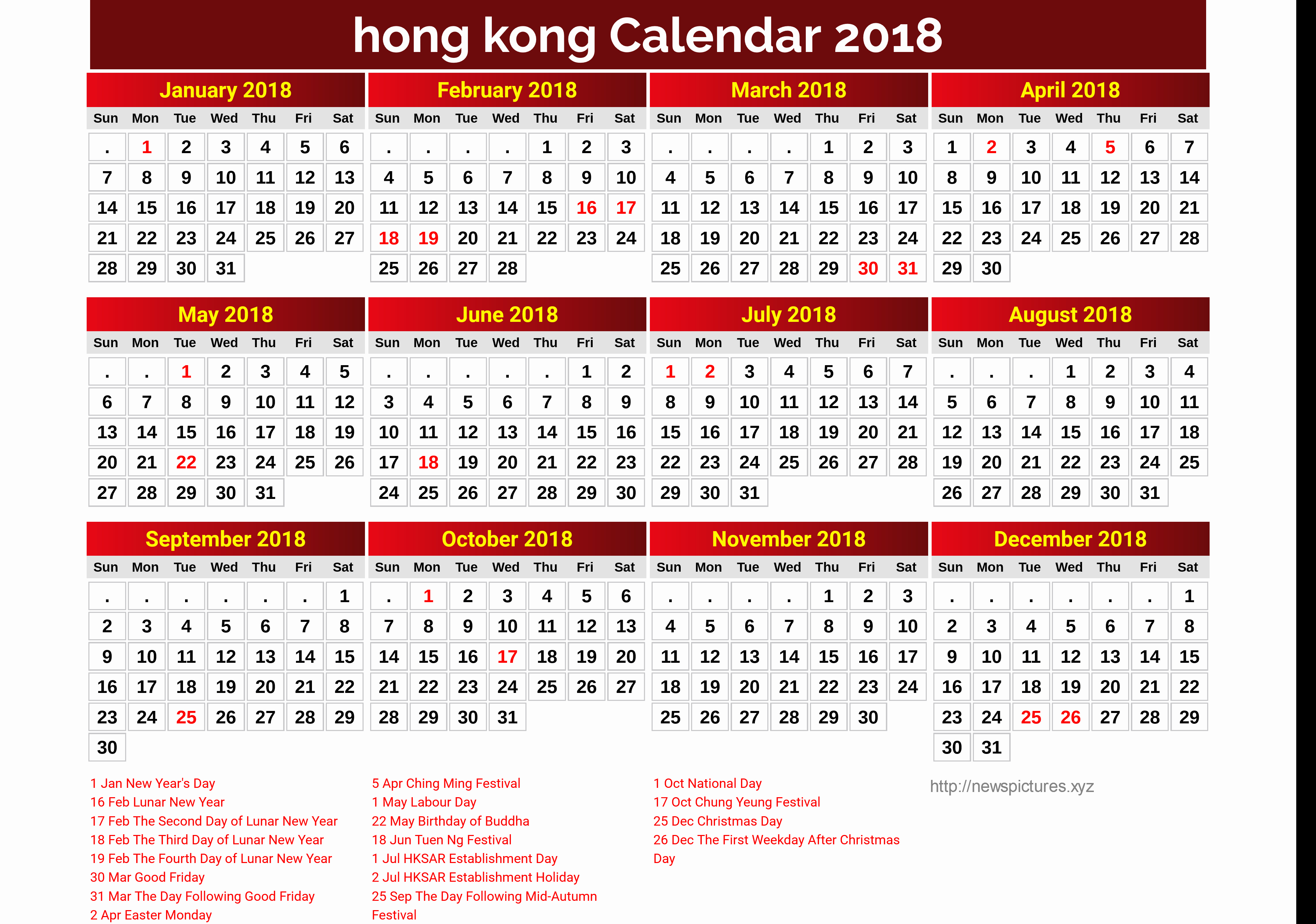 Year 2019 Calendar Hong Kong With Awesome 29 Illustration Lambertbicycles Com