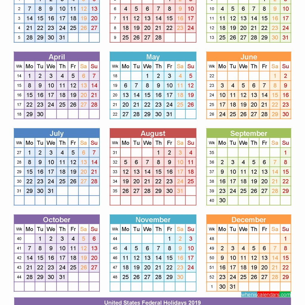 Year 2019 Calendar Hong Kong With Holidays 2018