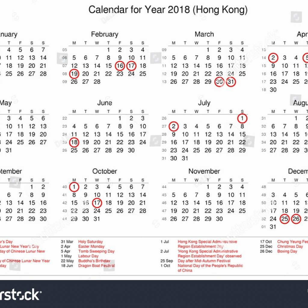 Year 2019 Calendar Hong Kong With Public Holidays Hype Journey