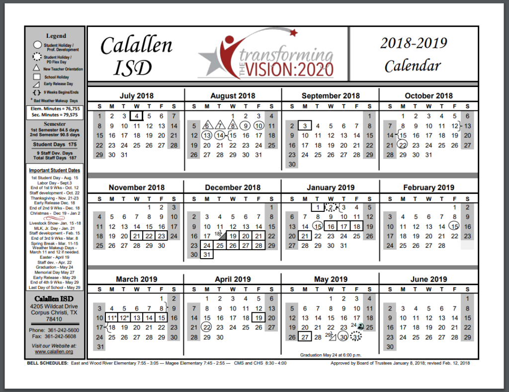 Year 2019 Calendar Ireland With School 2018
