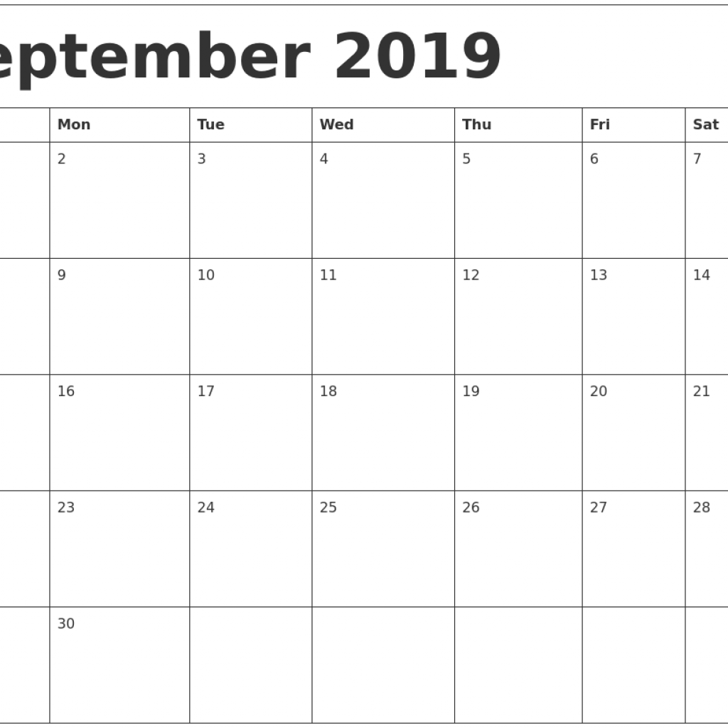 Year 2019 Calendar Ireland With September Template