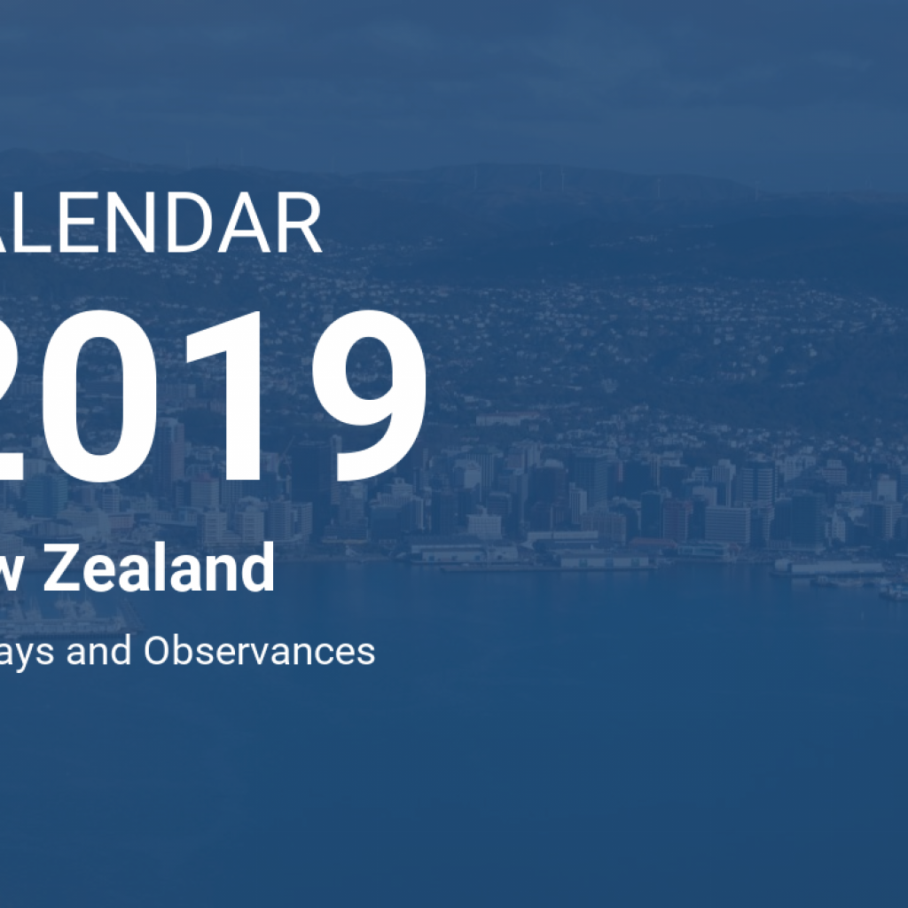 Year 2019 Calendar New Zealand With