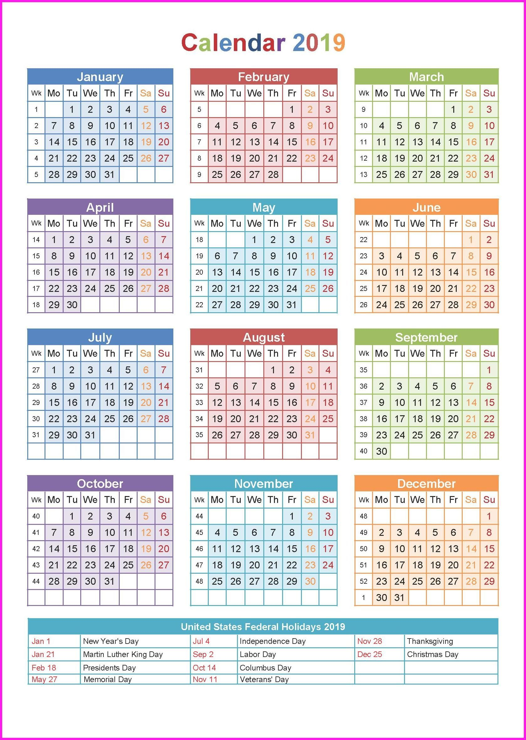 Year 2019 Calendar Philippines With Holidays Printable Yearly Calendar2019