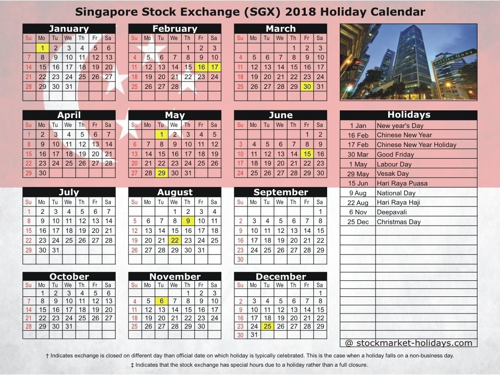 Year 2019 Calendar Singapore With March Creative Printable