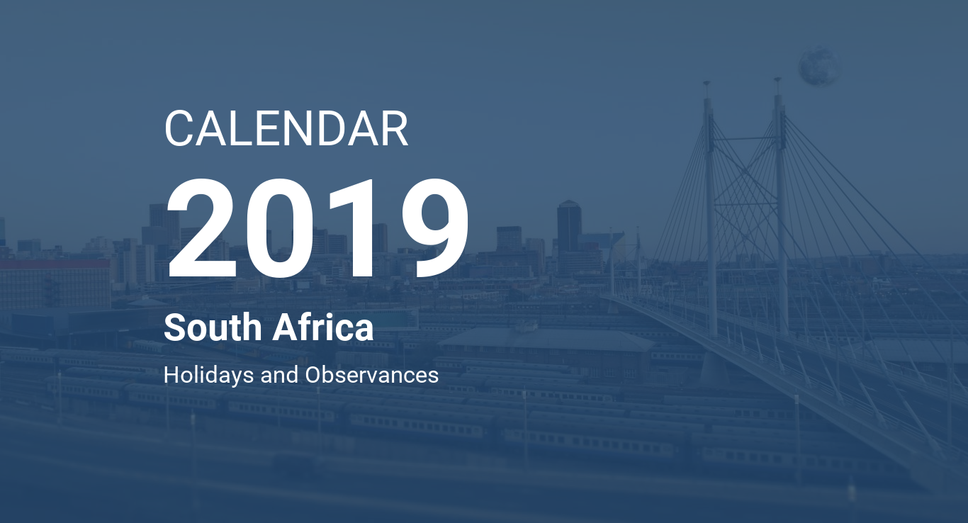 Year 2019 Calendar South Africa With