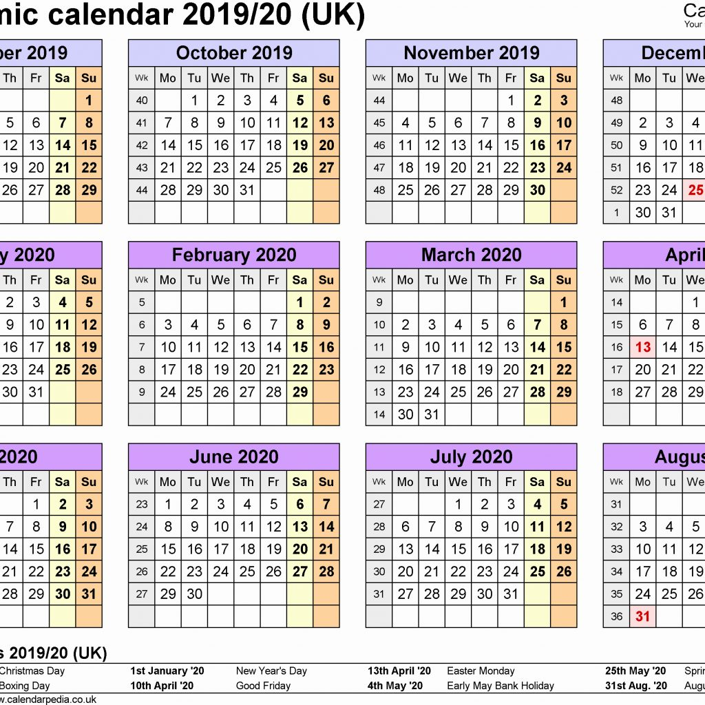 Year 2019 Calendar Uk With Three Calendars For 2020 2021 Word