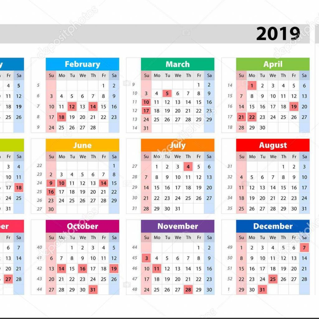 Year 2019 Calendar Usa With Free Public Holidays USA UK UAE Malaysia SA