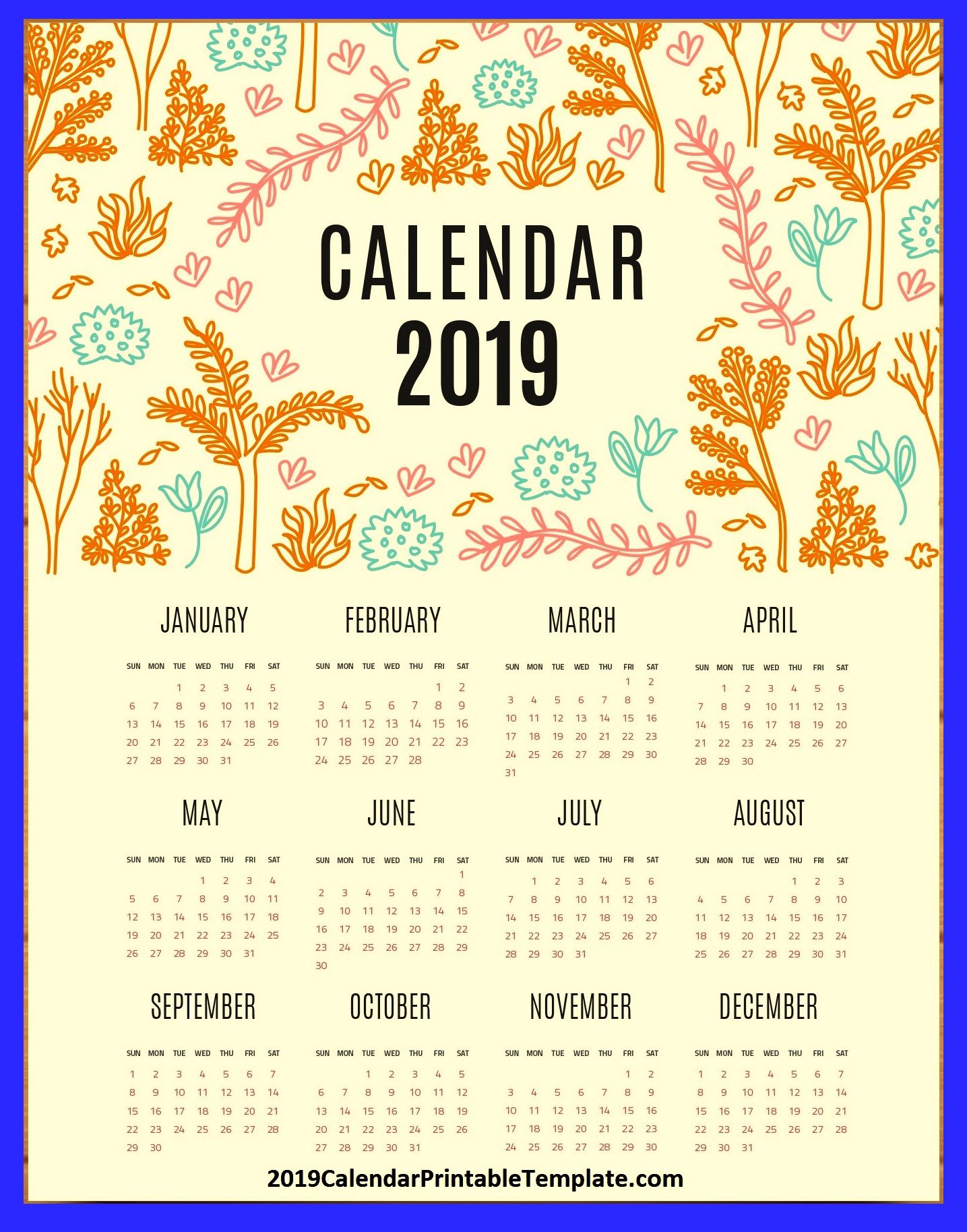 Year 2019 Calendar Usa With Pin By On USA In 2018