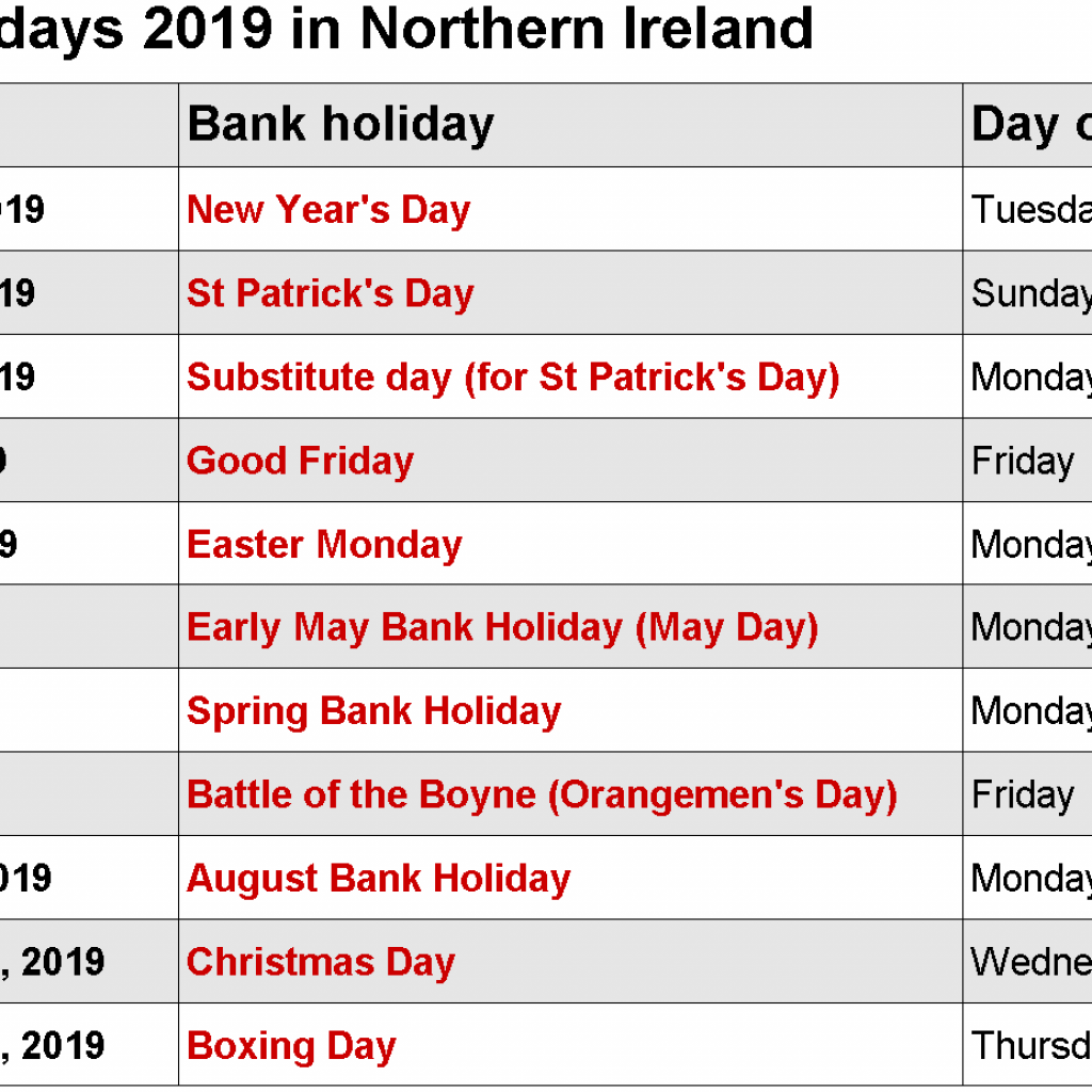 Year 2019 Holidays Calendar With Pinterest