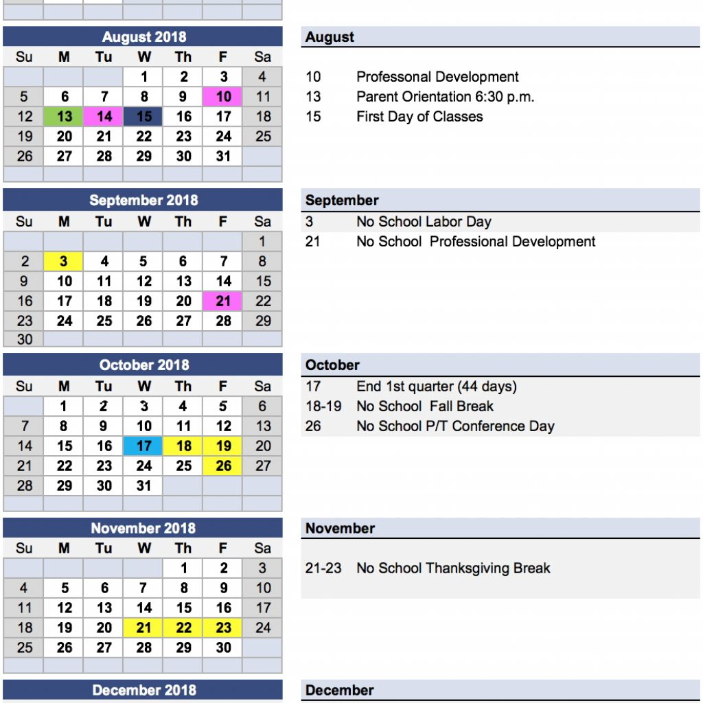 Year C 2019 Church Calendar With Messiah Lutheran Next School