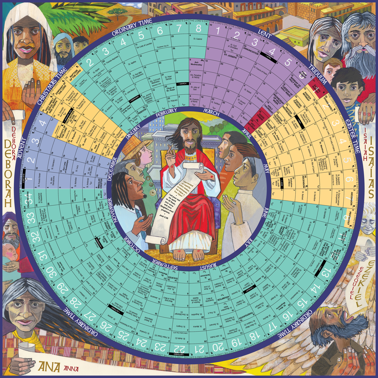 Year C 2019 Church Calendar With Of Grace 26 X Circular