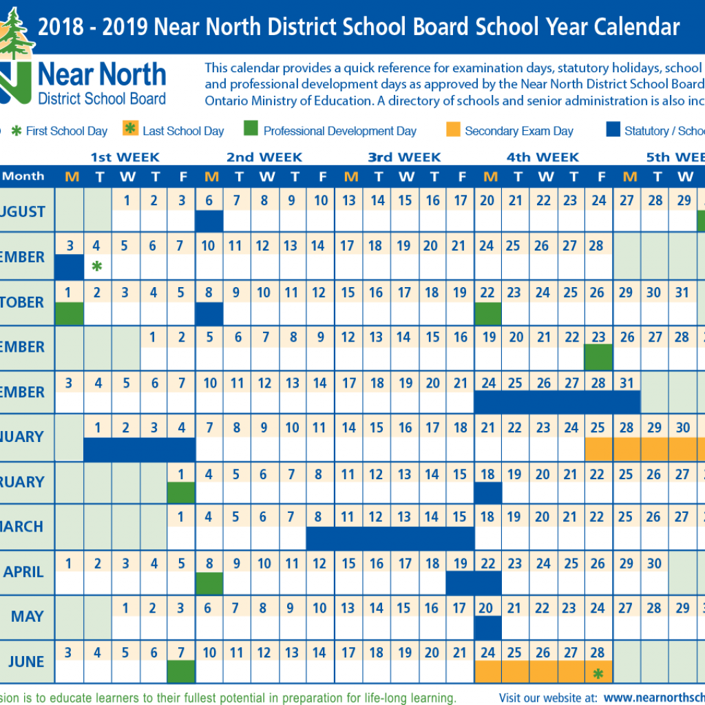year-calendar-2018-and-2019-with-school-near-north-district-board