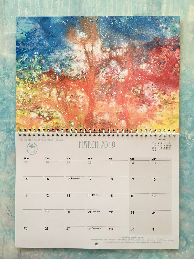 Year Of Grace Calendar 2019 With Iris Painting Shop