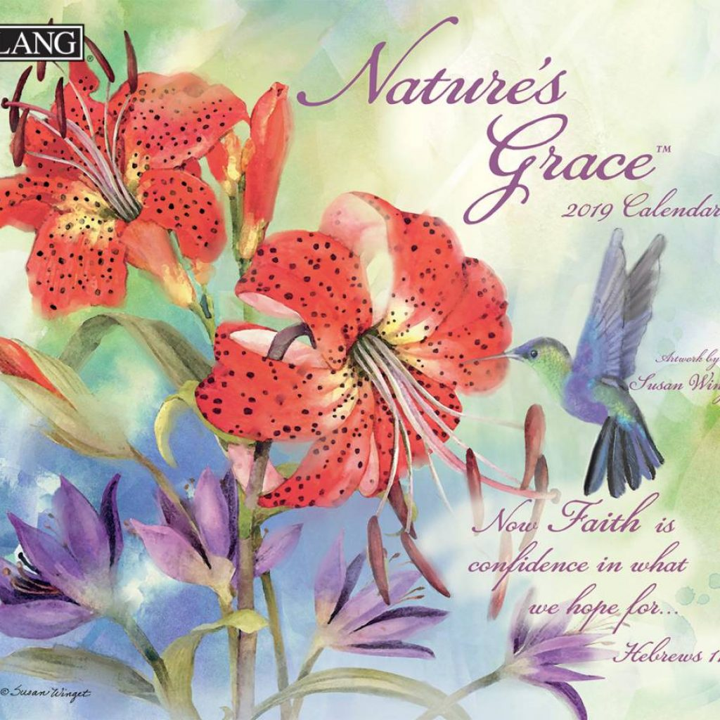 Year Of Grace Calendar 2019 With LANG NATURE S GRACE The Lang Store