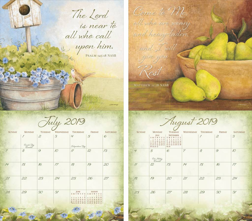 Year Of Grace Calendar 2019 With Legacy DAILY GRACE New Calender Fits Wall Frame Free