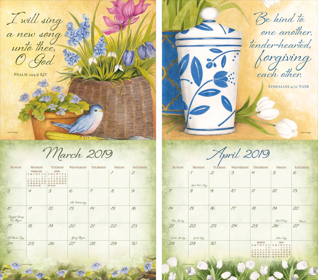 Year Of Grace Calendar 2019 With LEGACY DAILY GRACE Wall The Lang Store