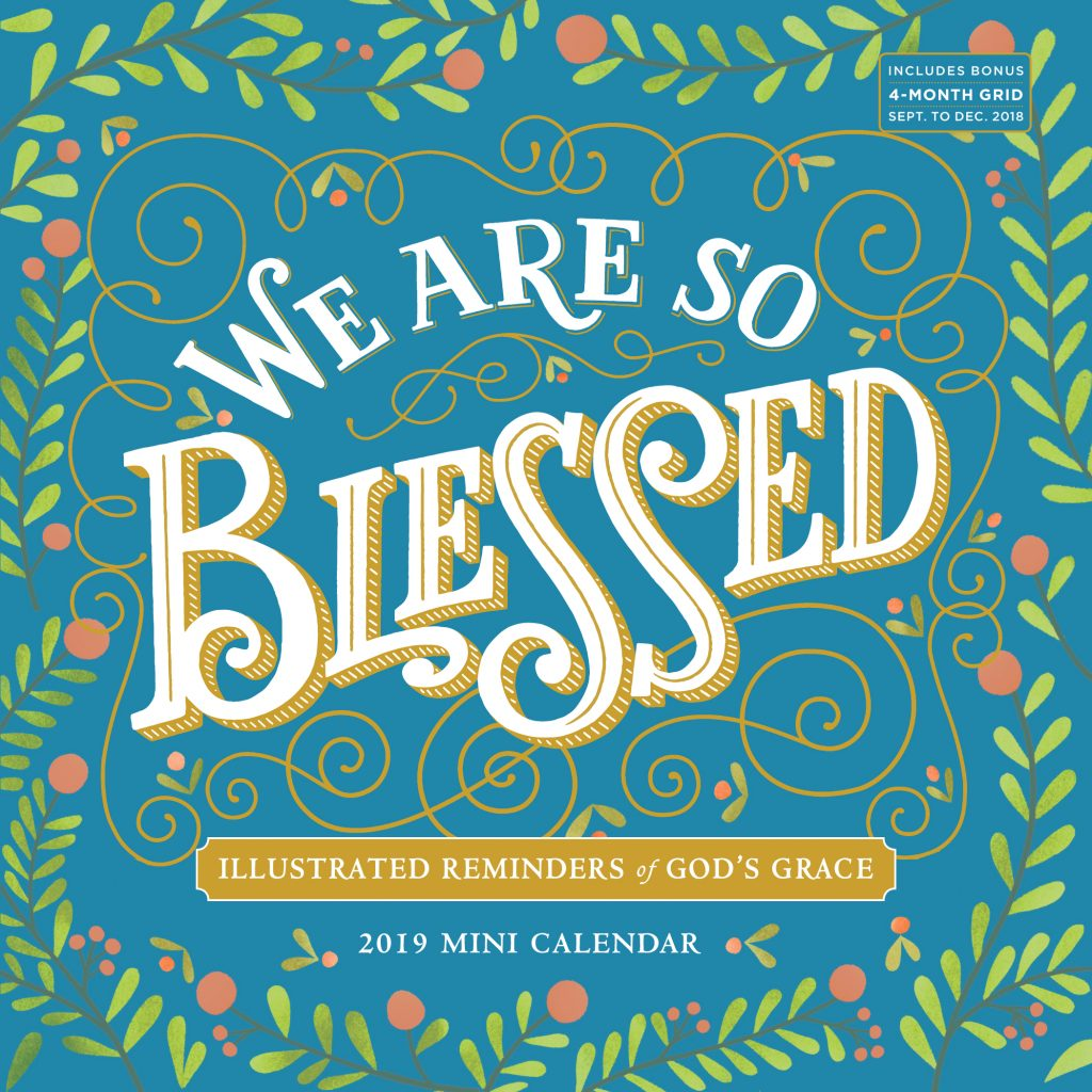 Year Of Grace Calendar 2019 With We Are So Blessed Mini Wall Workman Publishing