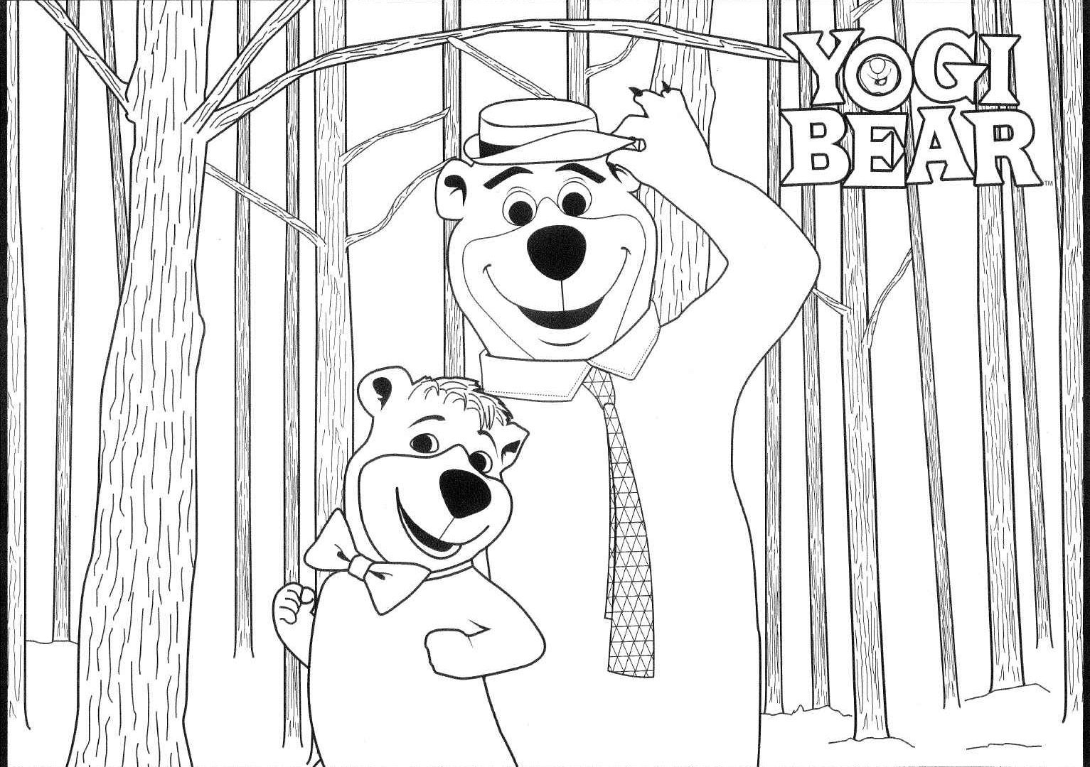 Yogi Bear Christmas Coloring Pages With Fredbear Family Diner Best Image Of Page