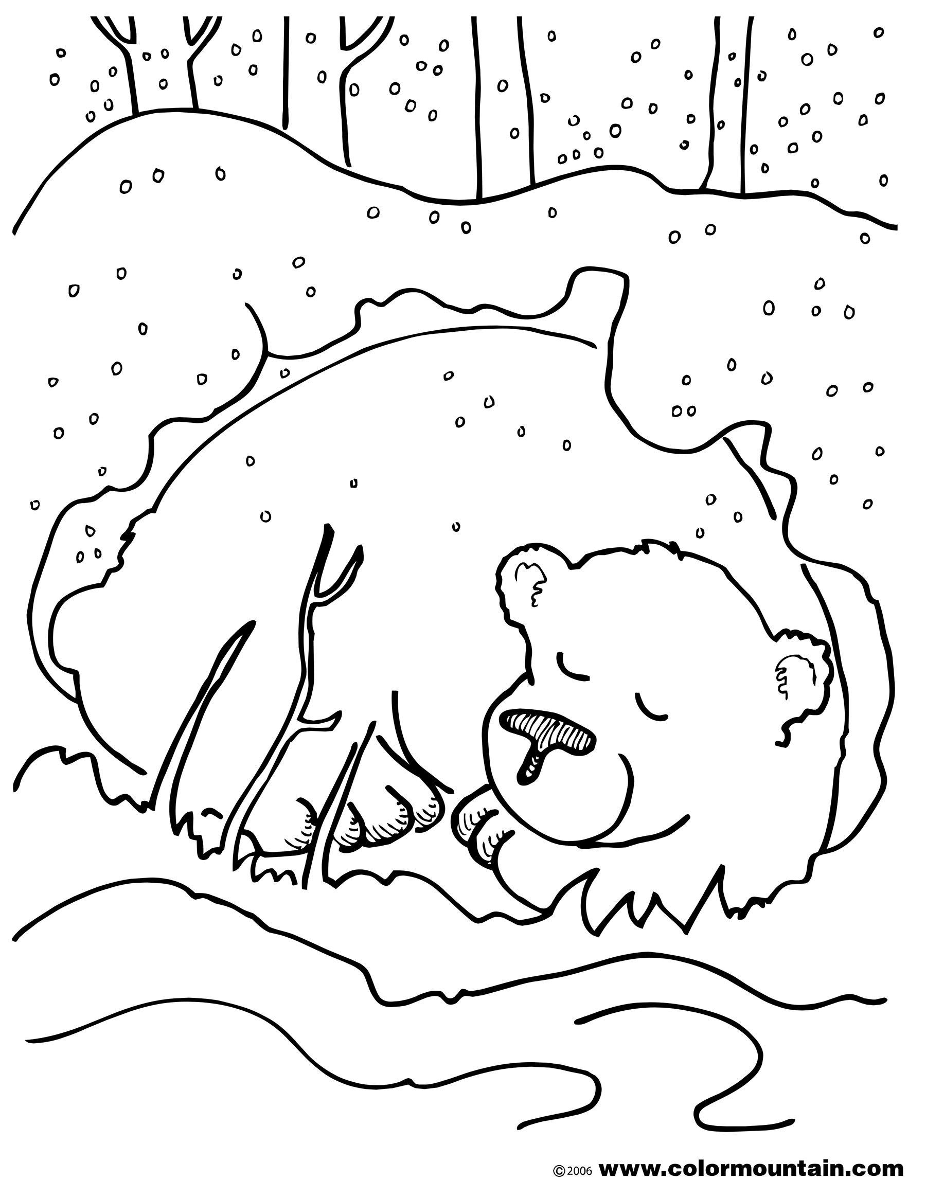 Yogi Bear Christmas Coloring Pages With Hibernation Page 2018 Open