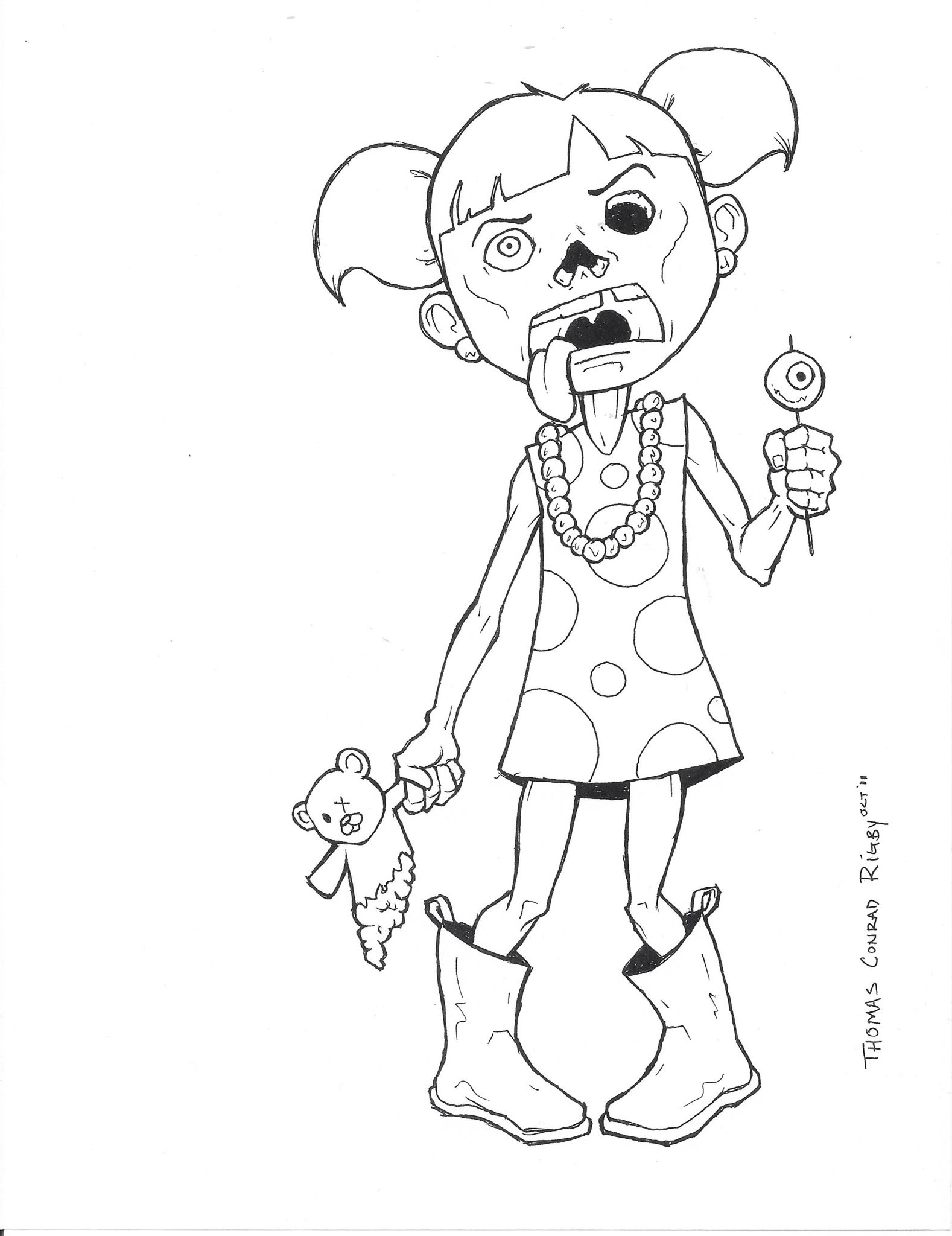 Zombie Santa Coloring Page With My Designs Pinterest Pages