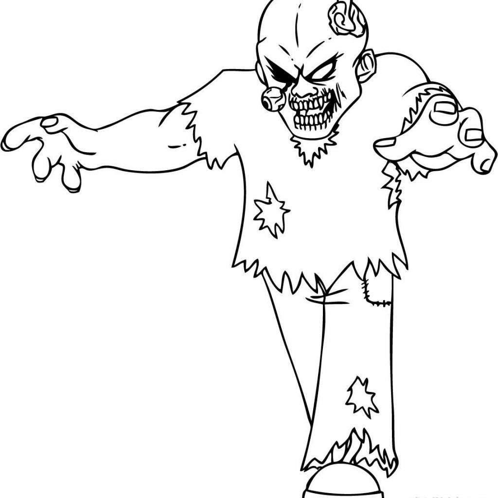 Zombie Santa Coloring Page With Zombies Pages Experienced Image 3